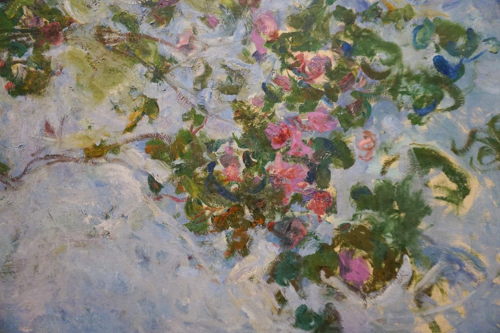A close up of the rose bushes painted by Claude Monet