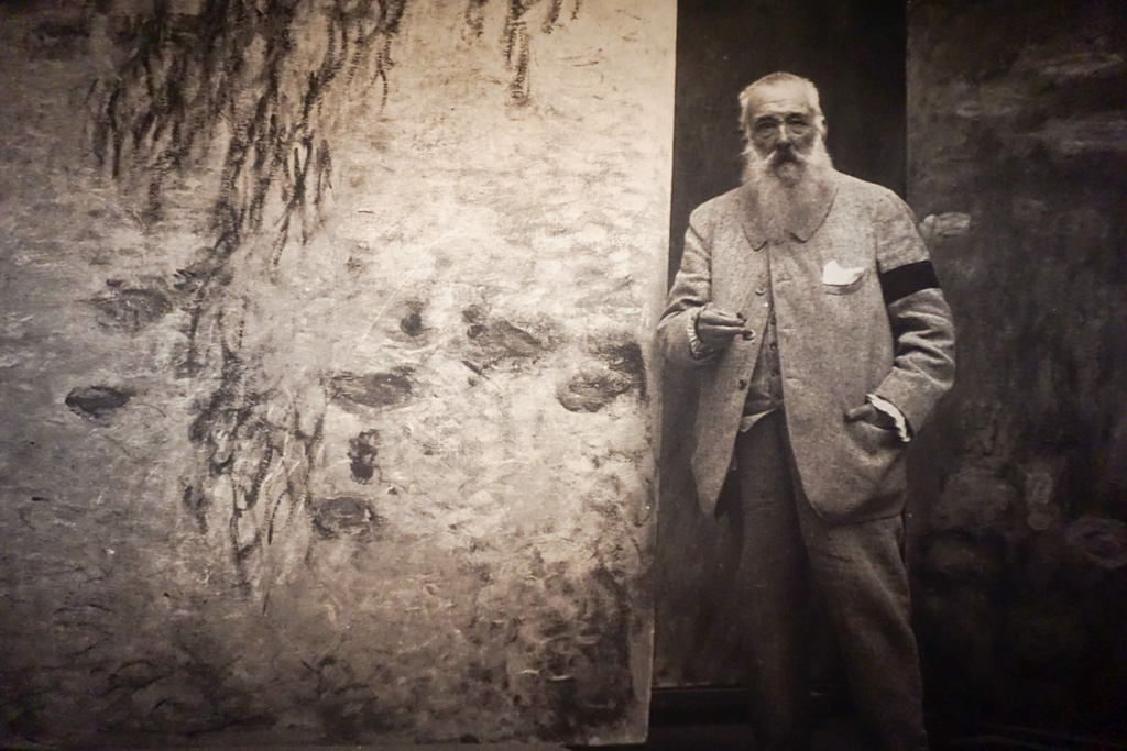 Claude Monet at his garden in Giverny