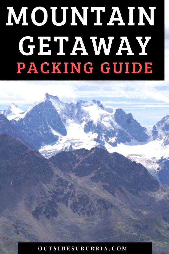 Packing list for a Mountain Getaway