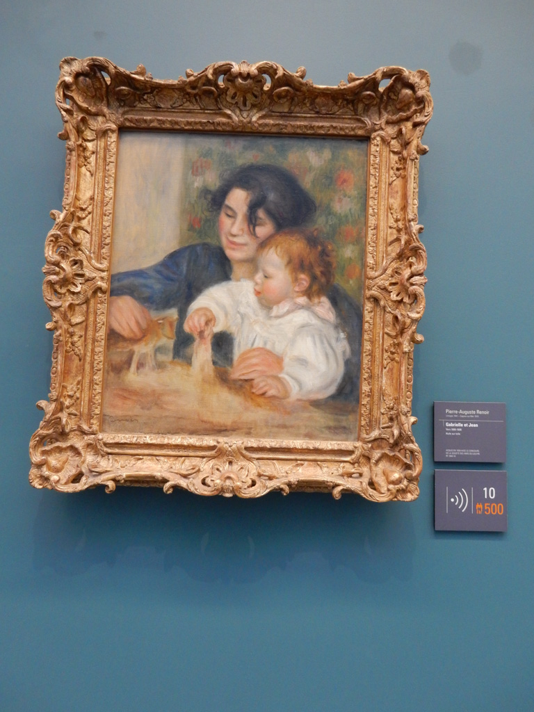 Works of Augueste Renoir at Musee de l'Orangerie in Paris