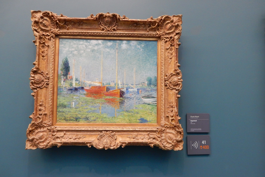 works of Paul Cezanne at Musee de l'Orangerie in Paris