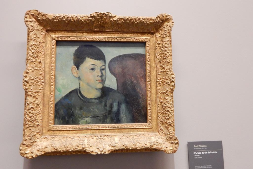 works of Paul Cezanne at Musee de l'Orangerie in Paris