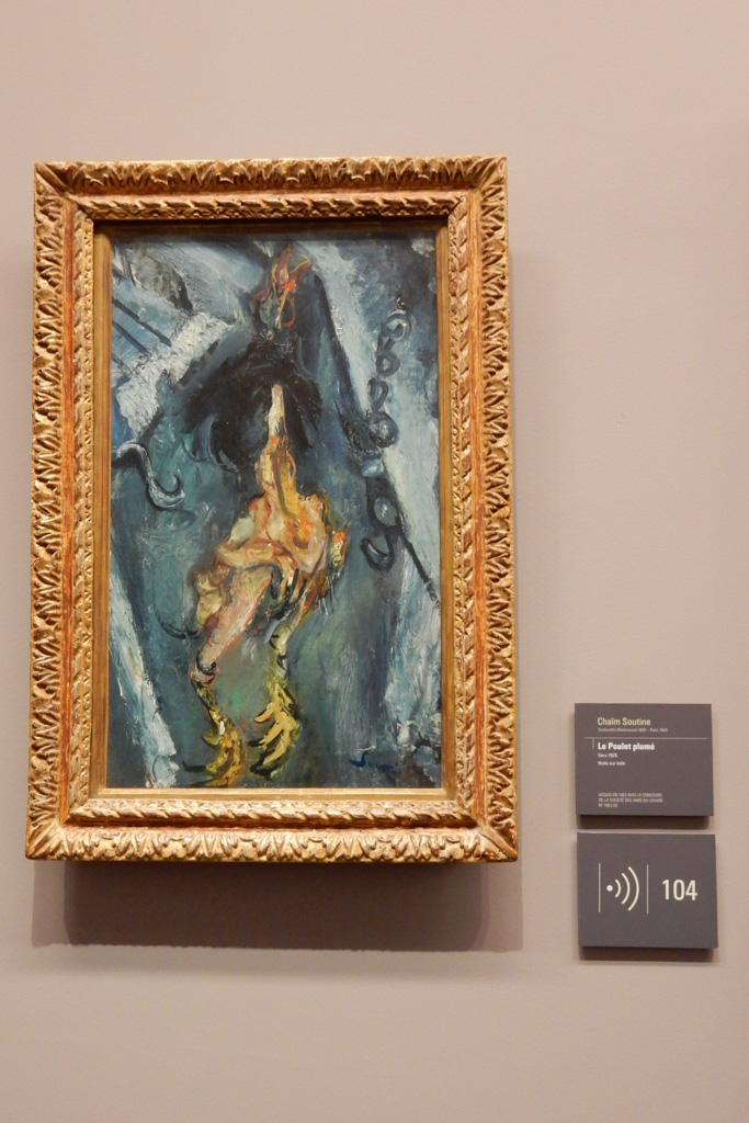 Works of Chaim Soutine at Musee de l'Orangerie in Paris