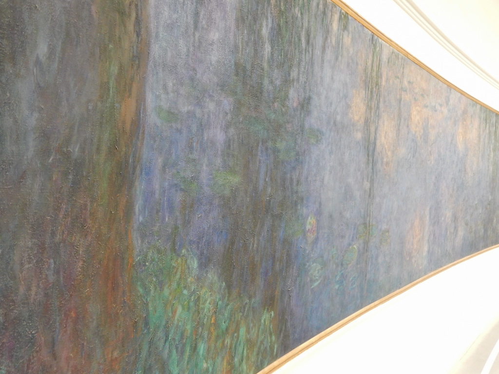 Monet's Waterlilies at Infinity room in Musee de l'Orangerie in Paris