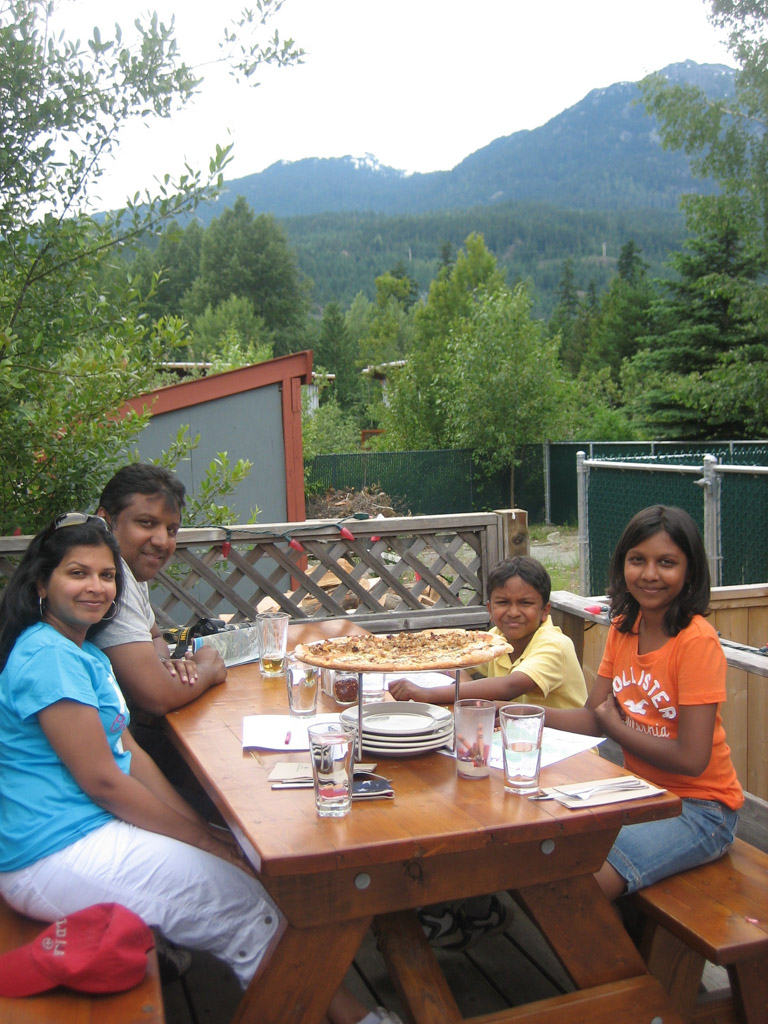 Lunch with a view at Pemberton pizza - Where to eat in Whistler, Canada