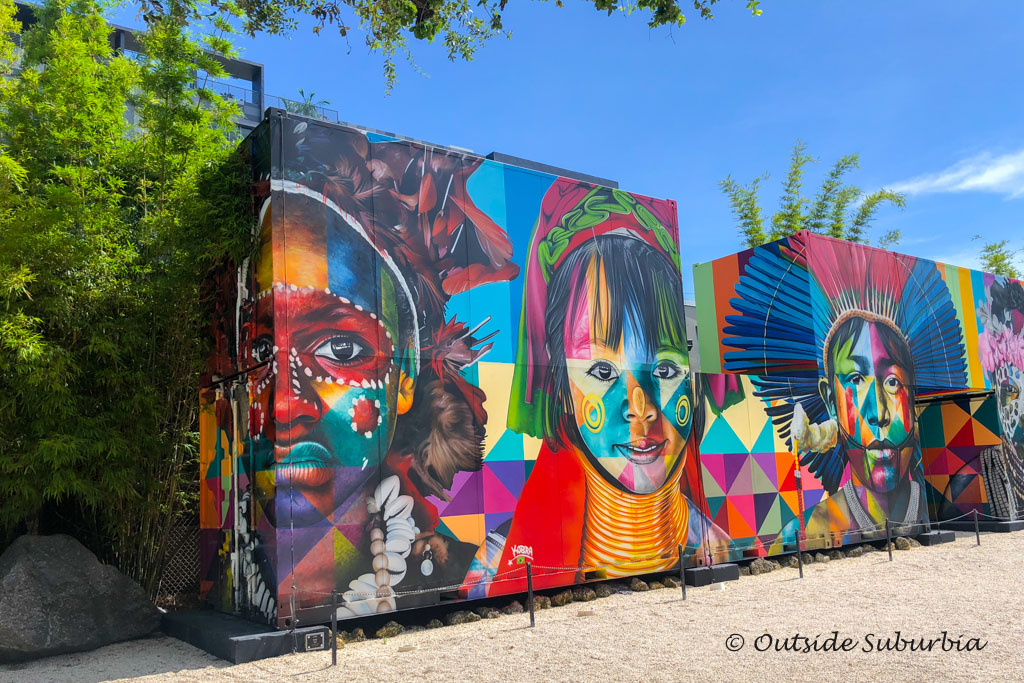 A work by Eduardo Kobra, 2018 at Wynwood Walls, Miami