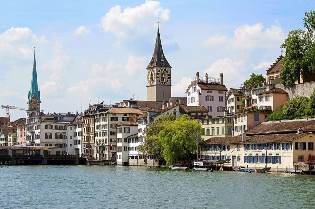 Fraumünster Church with stained glass windows of Marc Chagall in Zurich, Switzerland | Outside Suburbia