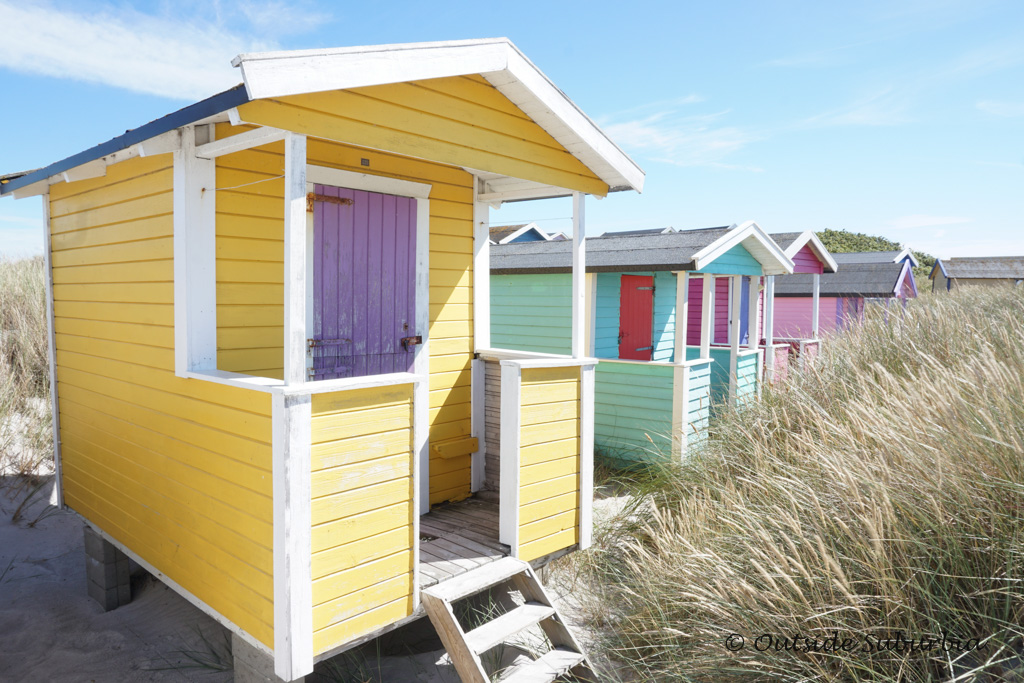 Beach huts at Falsterbo, the Swedish Riviera Photo by Outside Suburbia