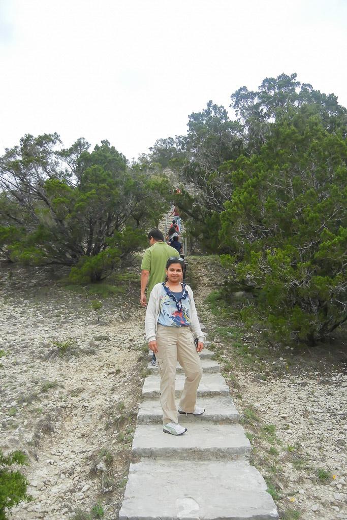 Climb up Mount Baldy, Wimberley, Texas
