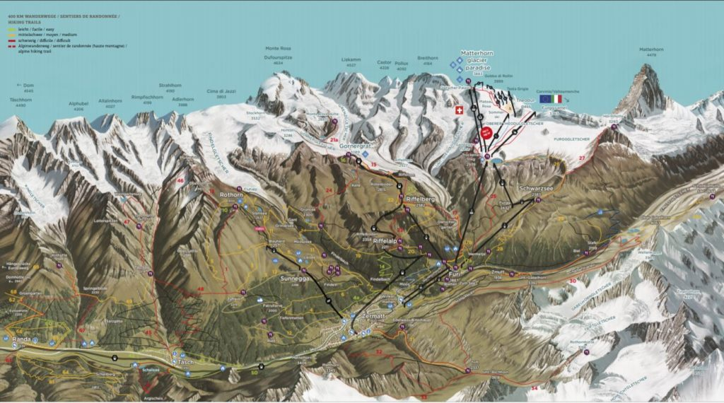 Map of Zermatt - Outside Suburbia