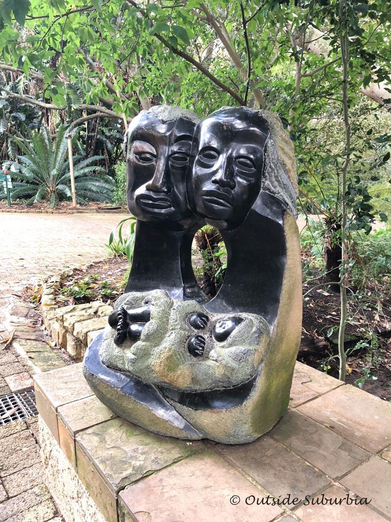 Zimbabwean Stone Sculptures - Kirstenbosch Botanical Garden in Cape Town - outsidesuburbia.com