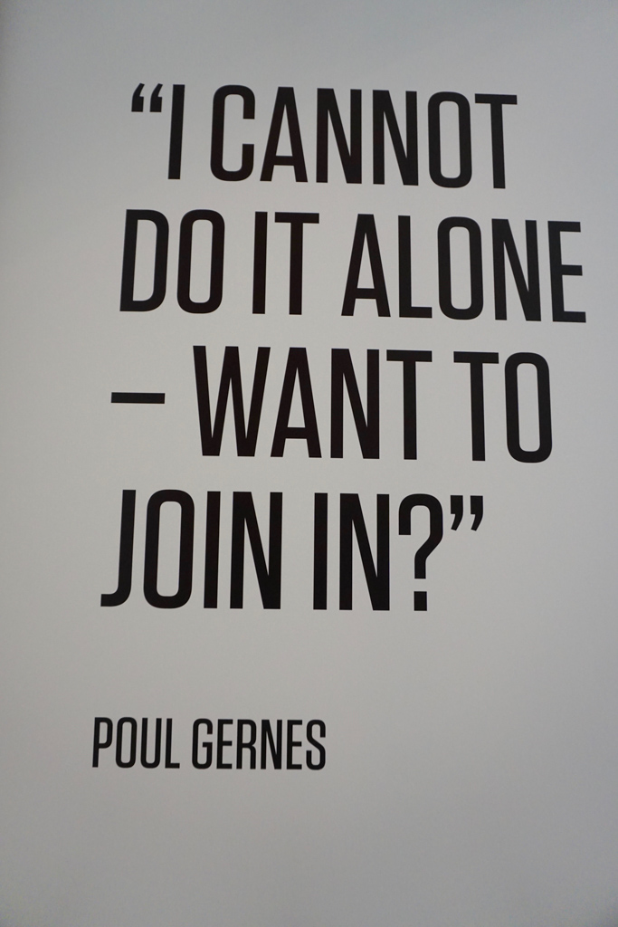 Poul Gernes special exhibition at the Louisiana Museum of Modern Art in Denmark