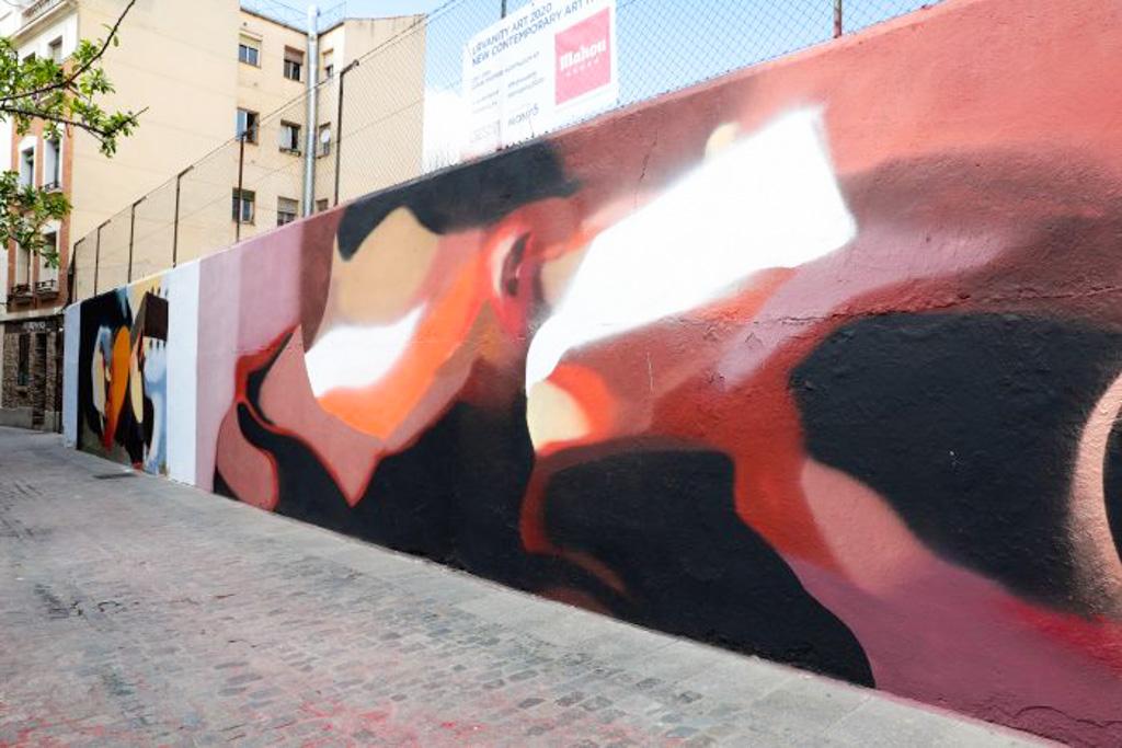 Travesía del Almendro, Mural by Gviiie