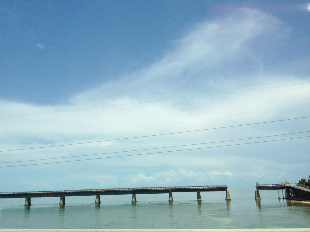 The 'parallel bridge', the remains of the Florida East Coast Railway Line