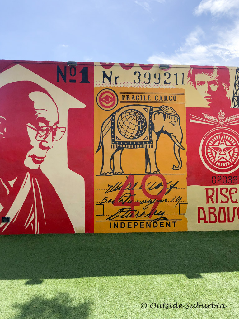 Shepard Fairey mural at Wynwood Walls, Miami