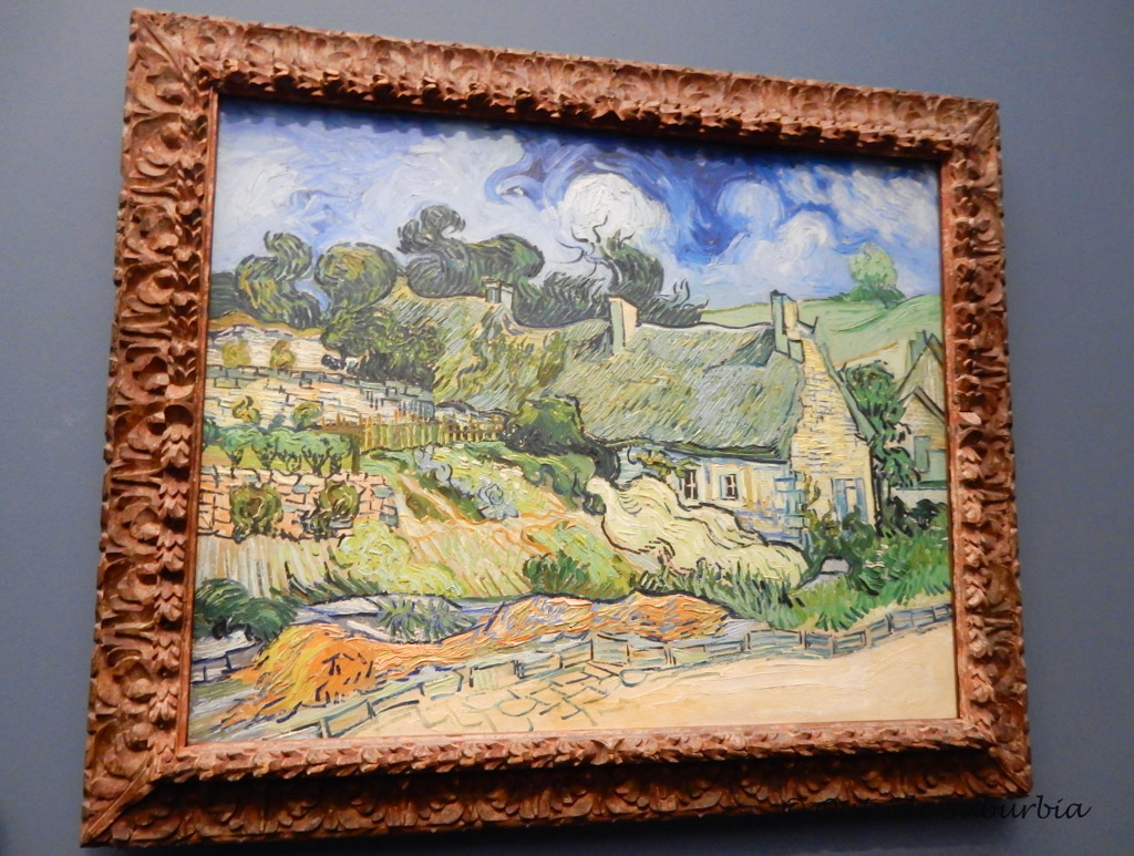 hatched Cottages at Cordeville, created in 1890 - Van Gogh Paintings You Don't Want to Miss at the Musee d'Orsay