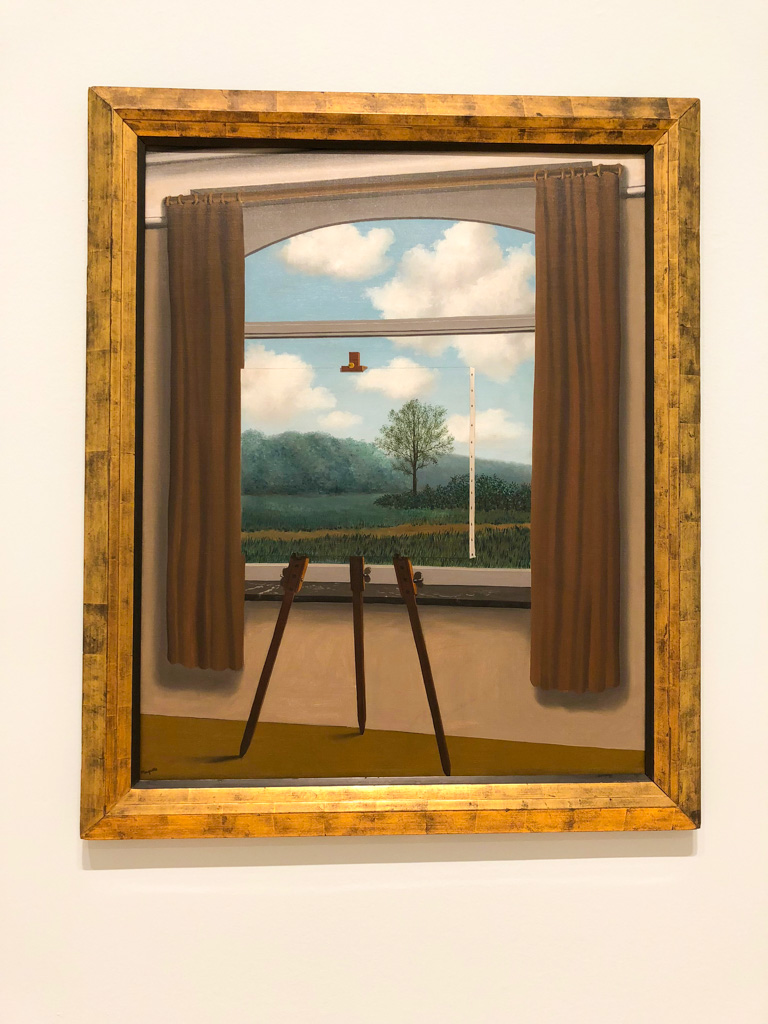 The Human Condition consists of a painting within a painting.  - Magritte - OutsideSuburbia.com