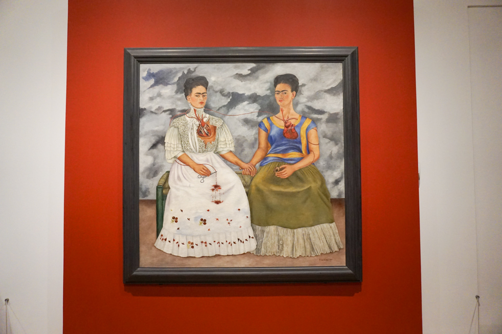The Two Fridas located in the Museo de Arte Moderno, Mexico City