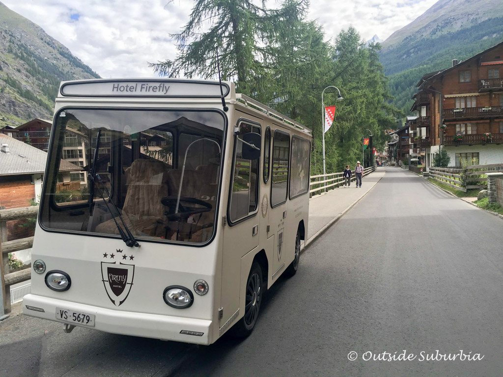 Electric cars in Zermatt, Switzerland - Outside Suburbia