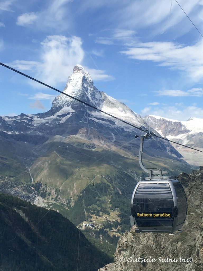 The Rothorn cable car carries visitors to the summit of the Rothorn