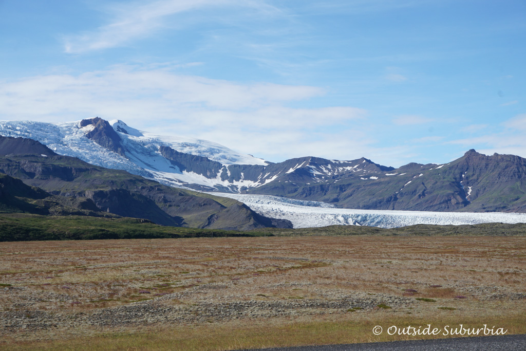 You can see the glacier right from the Ring Road in Iceland, a little further from Vik - Outside Suburbia