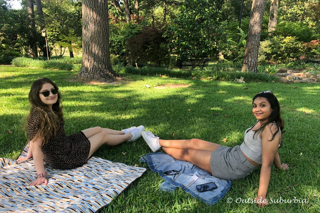 A picnic in the Rose Garden at Tyler, Texas - Outside Suburbia