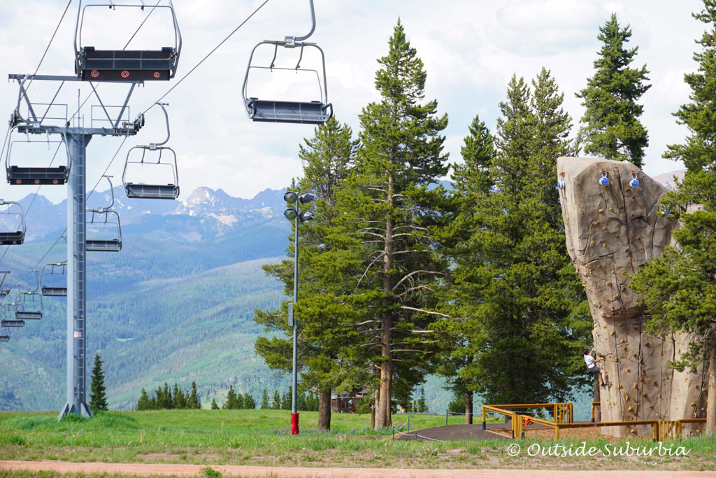 Zipline in Vail. Read the article to see why we think Summer is Vail is an Epic Adventure - Outside Suburbia