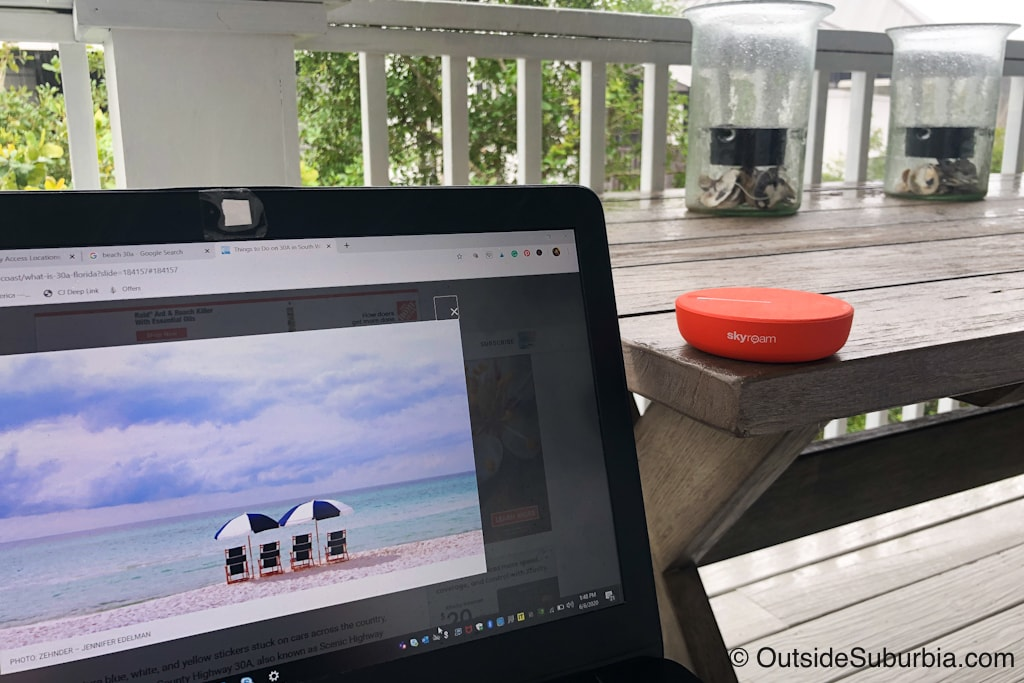 WiFi Hotspot will be helpful to stay connected while on the beach -  Packing Tips for a Beach Vacation - Outside Suburbia