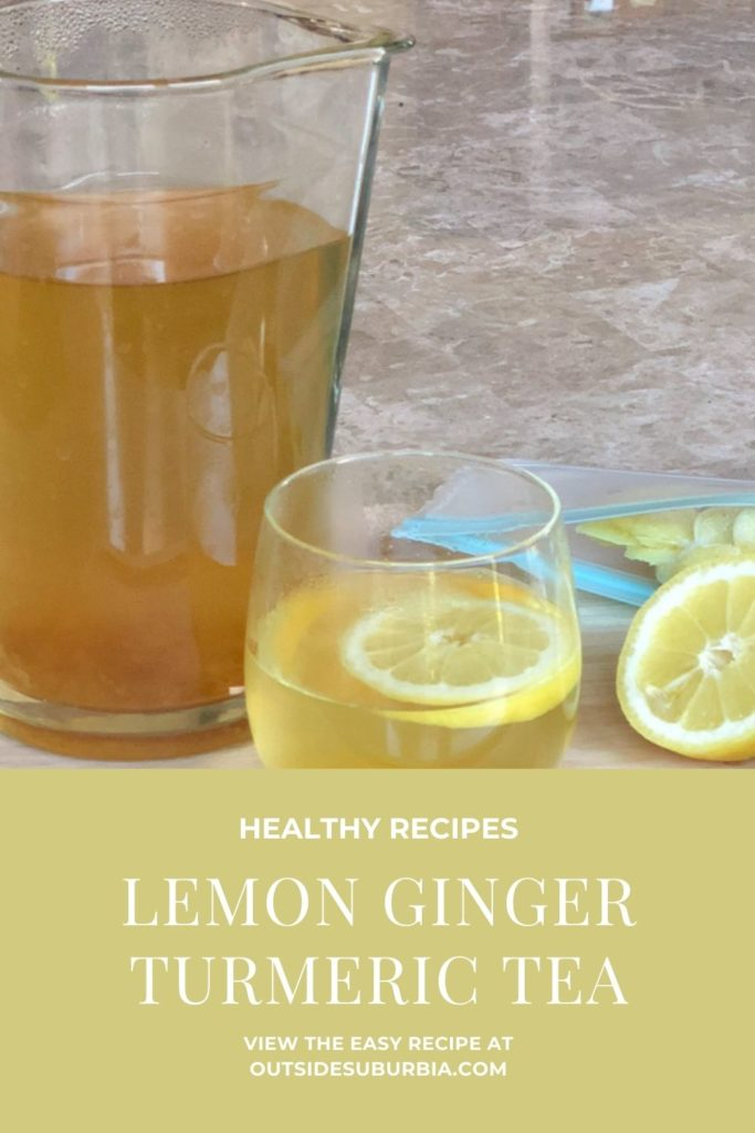 Lemon Ginger Turmeric Tea Recipe | Outside Suburbia