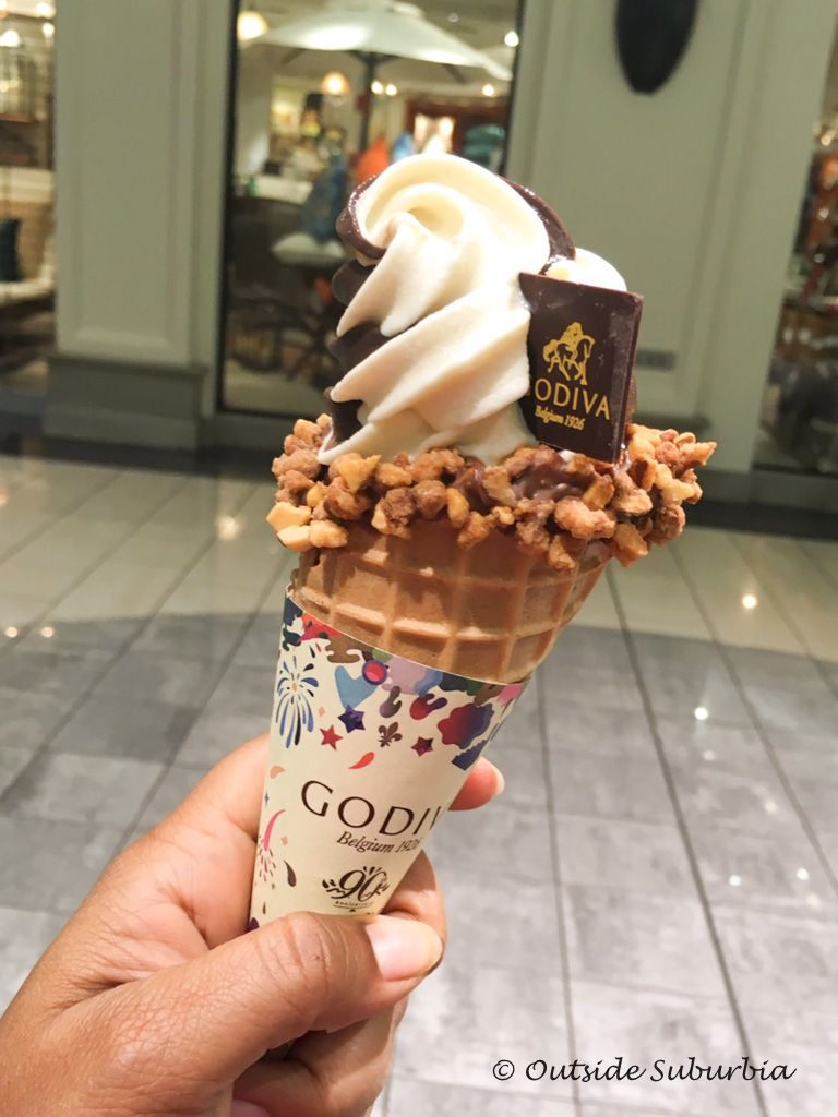 Godiva Chocolatier located inside the Stonebriar Mall has great Ice cream