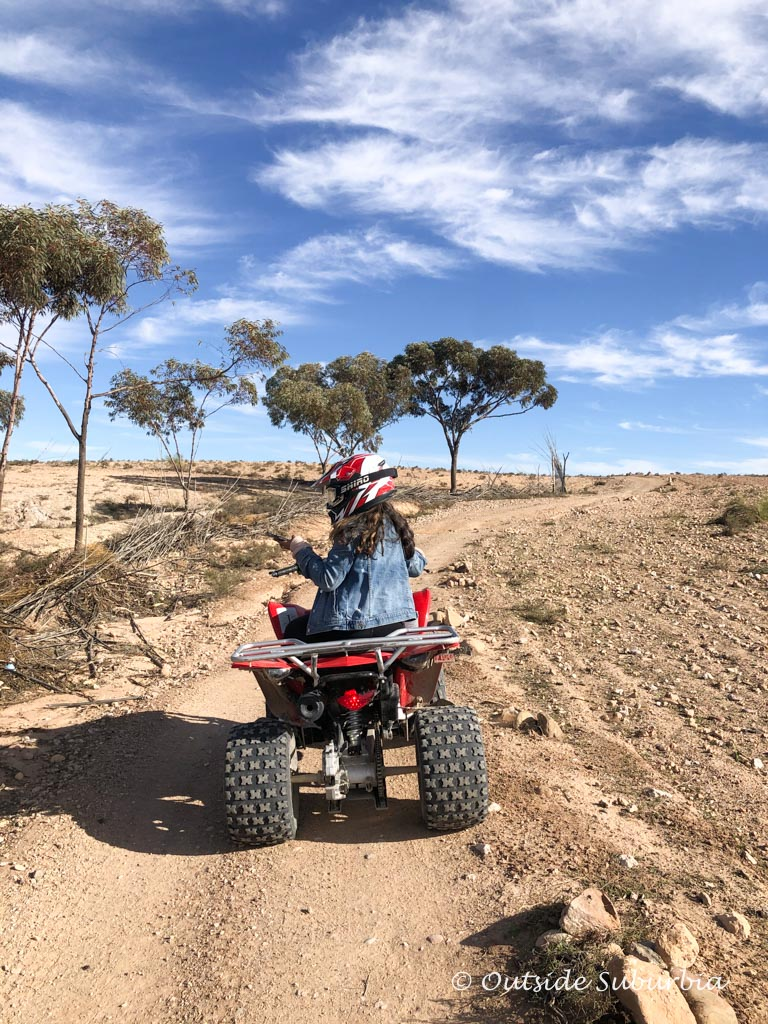 Riding Quad bikes in Agafay, Morocco