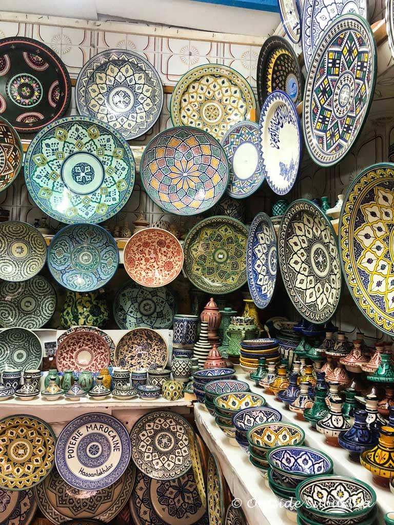 Pottery at The old Medina of Essaouria, Morocco  | Outside Suburbia