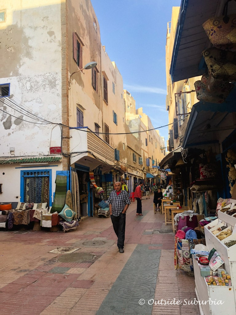 The old Medina of Essaouria with all the shops and stands | Outside Suburbia