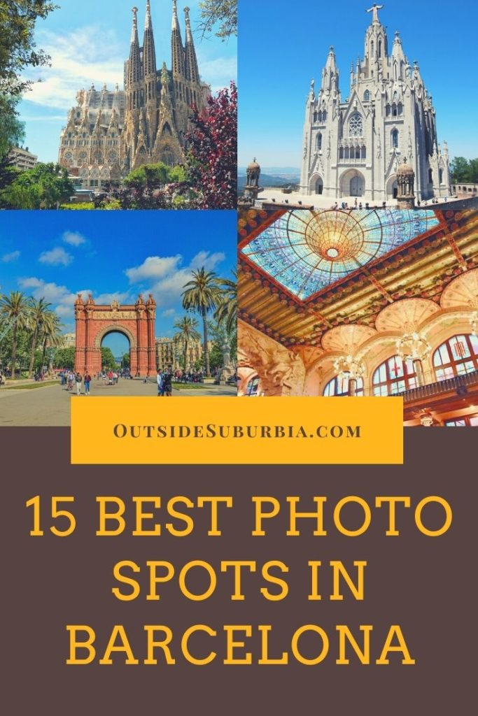 The 15 Instagrammable spots listed are some of the top places for photos that you must visit when you are in Barcelona | Outside Suburbia