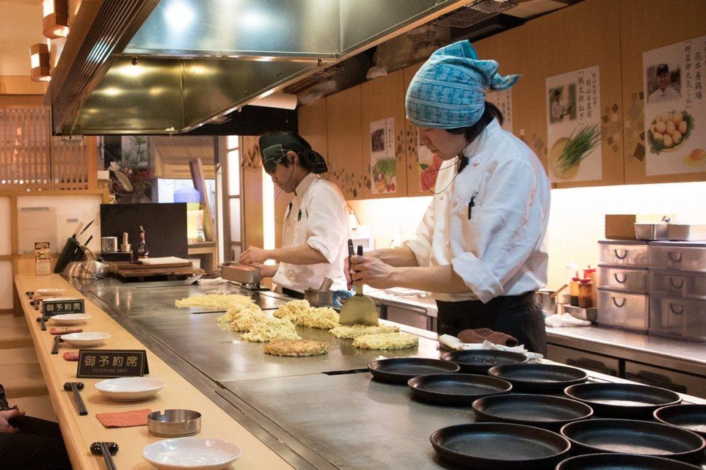 Okonomiyaki is a savory pancake that is popular in Osaka and Hiroshima, Japan | Outside Suburbia