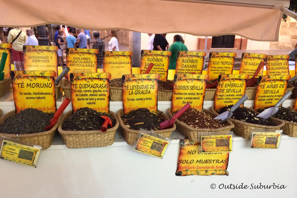 Spanish Spices you can find at the market in Seville | Outside Suburbia