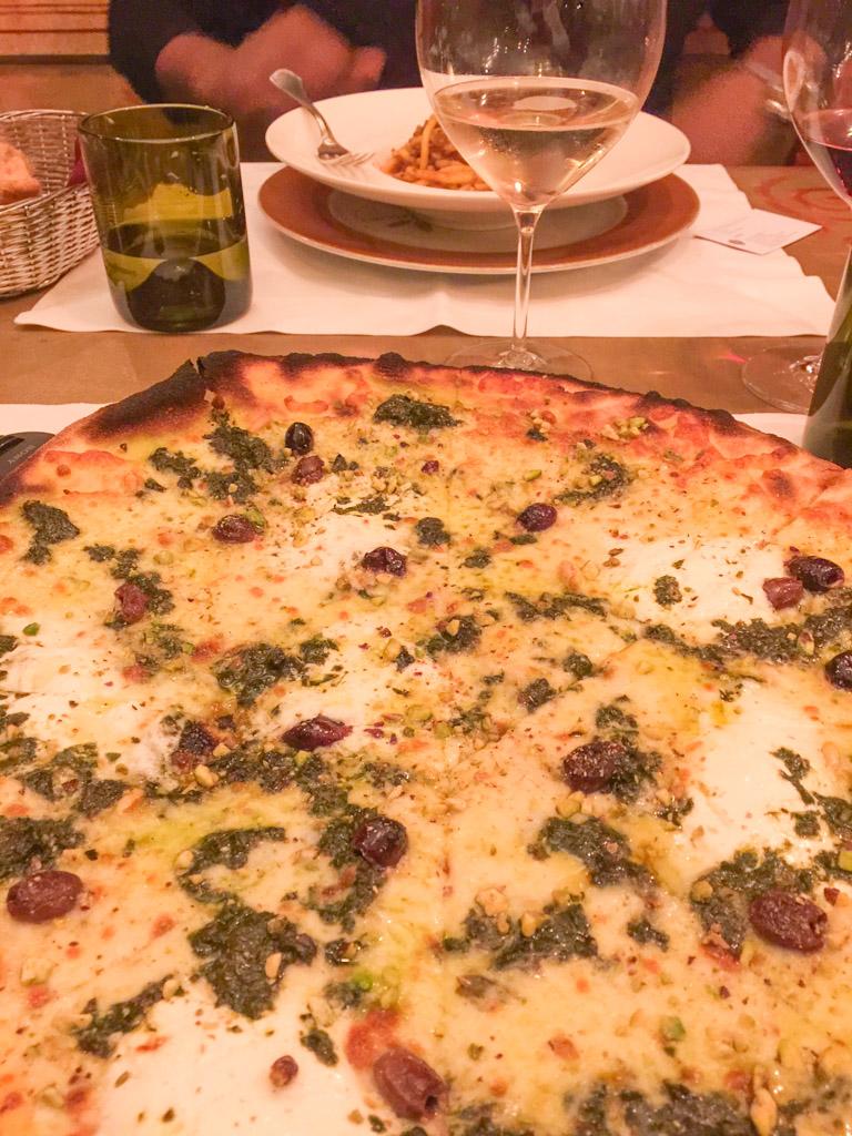 A pistachio pesto pizza | Outside Suburbia