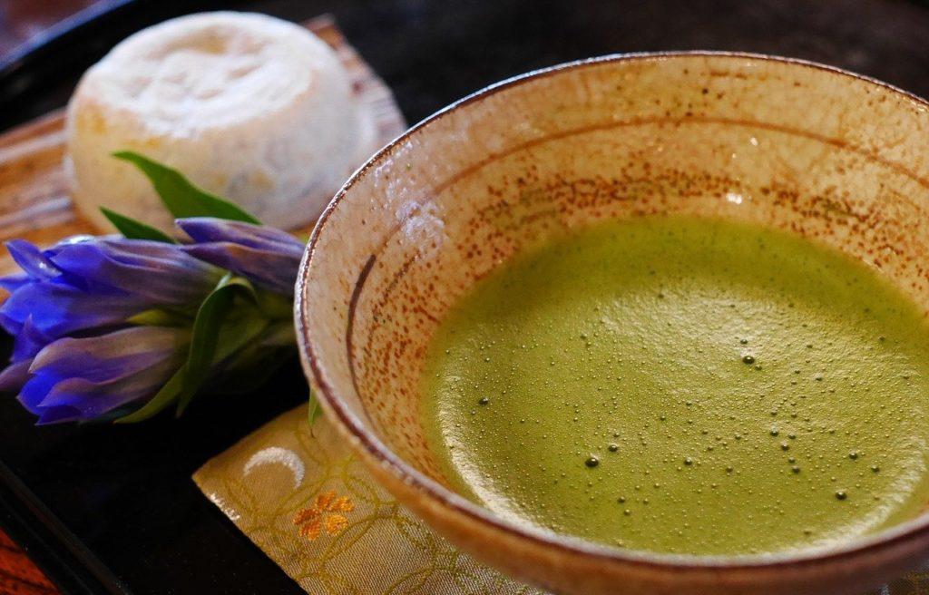 Matcha Green Tea with a Japanese wagashi  | Outside Suburbia
