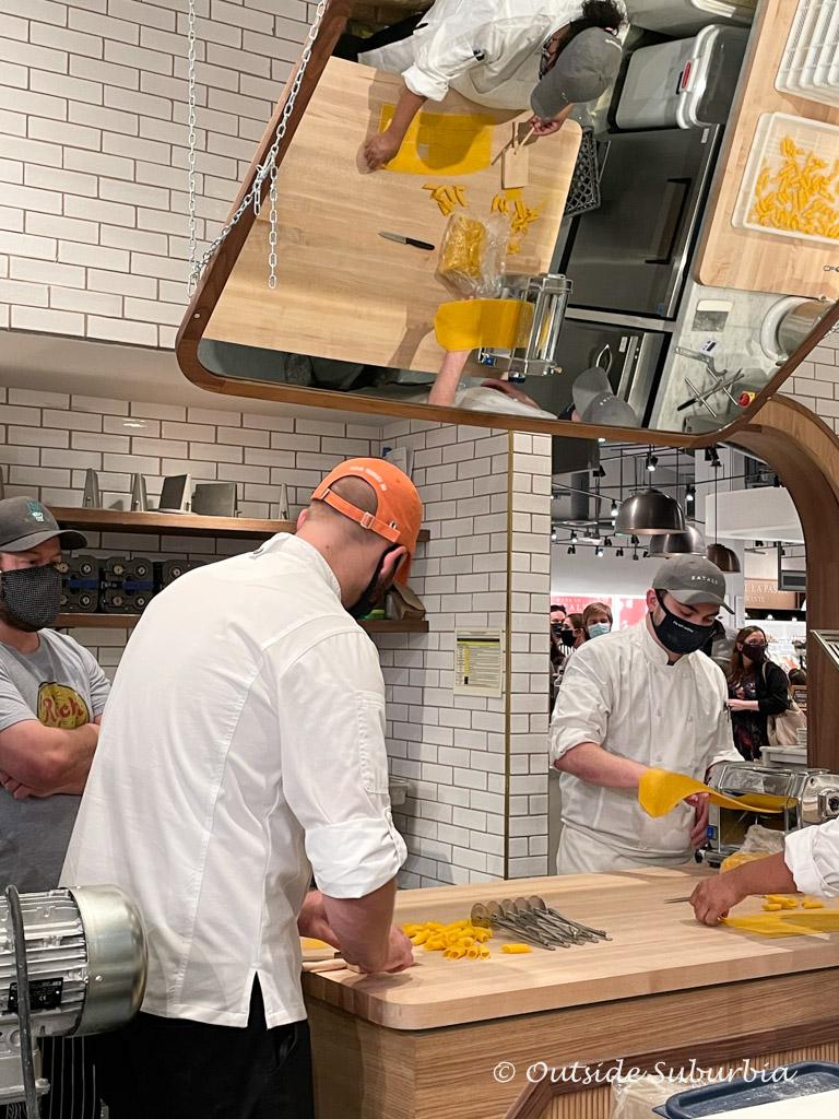 Fresh pasta station at Eataly Dallas | Outside Suburbia