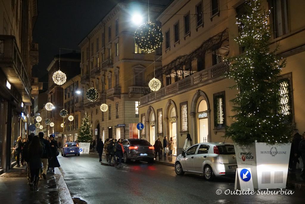Via Monte Napoleone, Milan Fashion District | Outside Suburbia