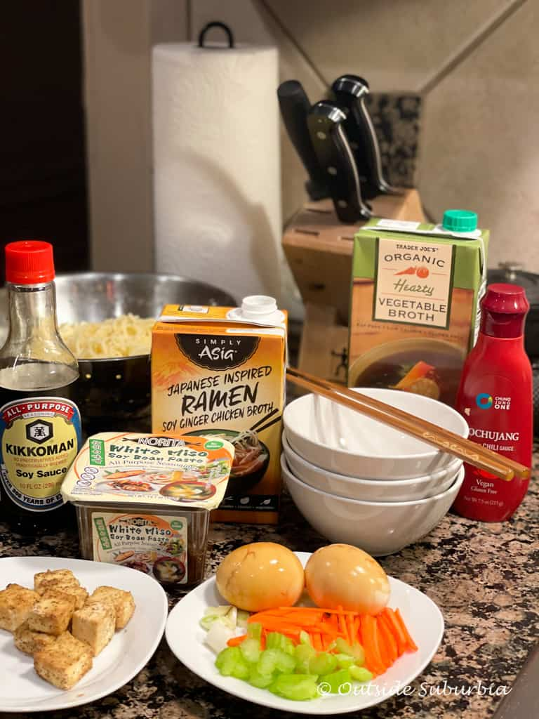 Easy Vegetarian Ramen Recipe | Outside Suburbia