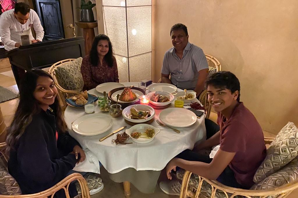 Dinner at  La Table Du Riad, Riad 72, Marrakech   Outside Suburbia