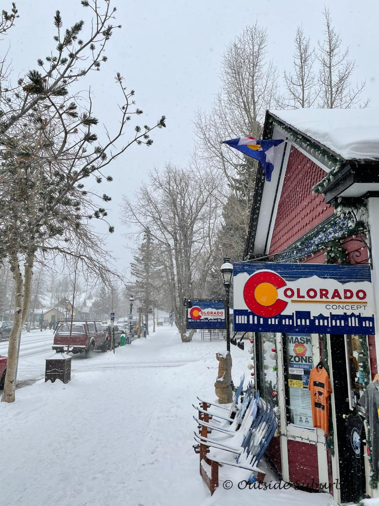 Breck Mainstreet covered in some fresh snow | Outside Suburbia