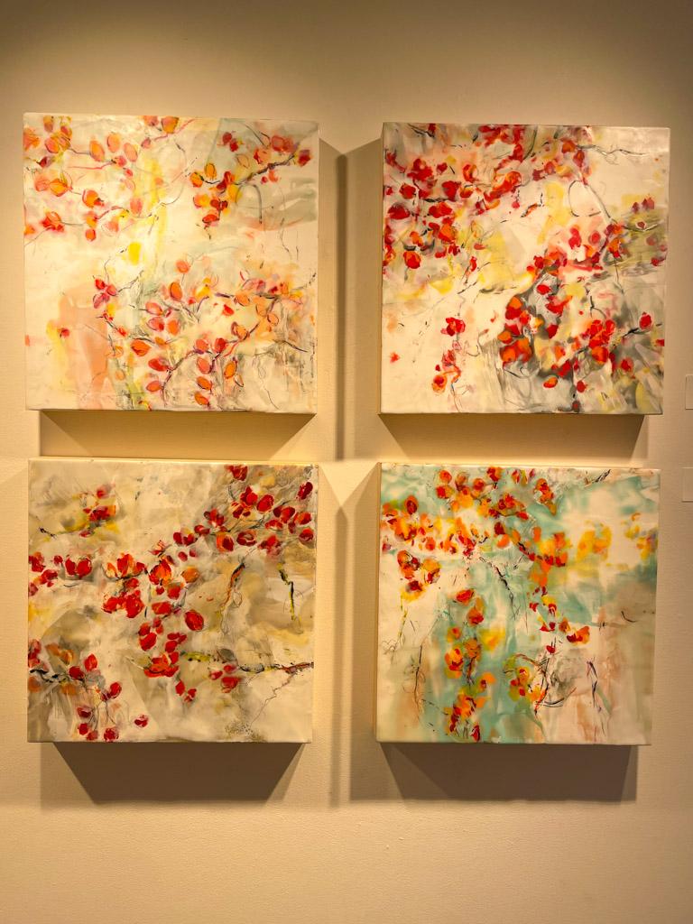 Japanese Garden Encaustic (Hot wax) painting by Martha Rea Baker | Outside Suburbia