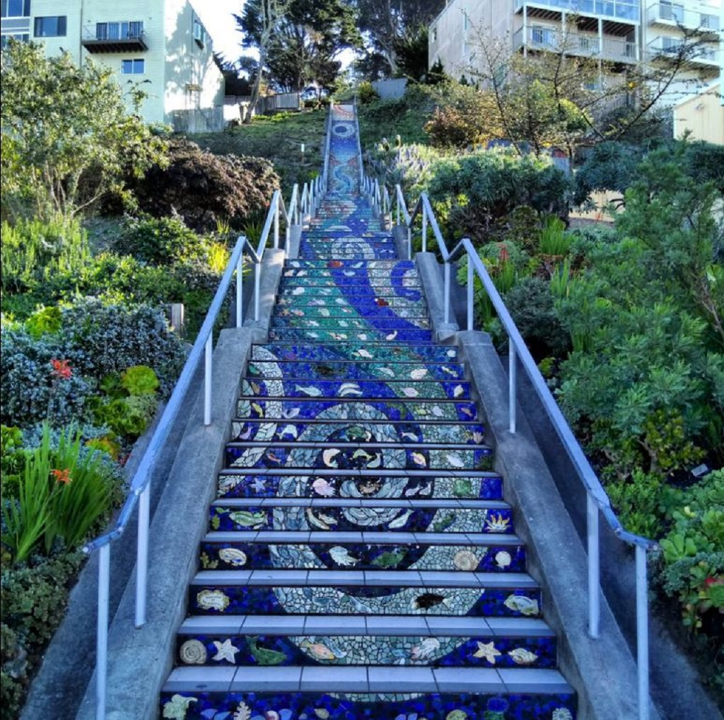 Tiled Stairs San Francisco | Outside Suburbia