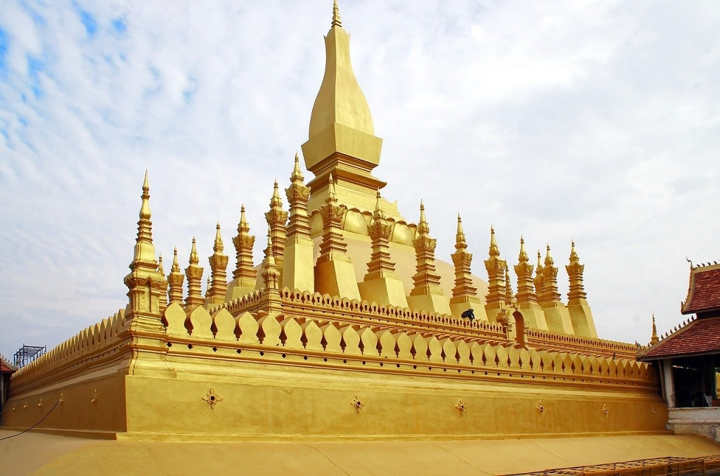 Pha That Luang Laos   50 Magnificent & Famous Temples in Asia that you must visit   Outside Suburbia