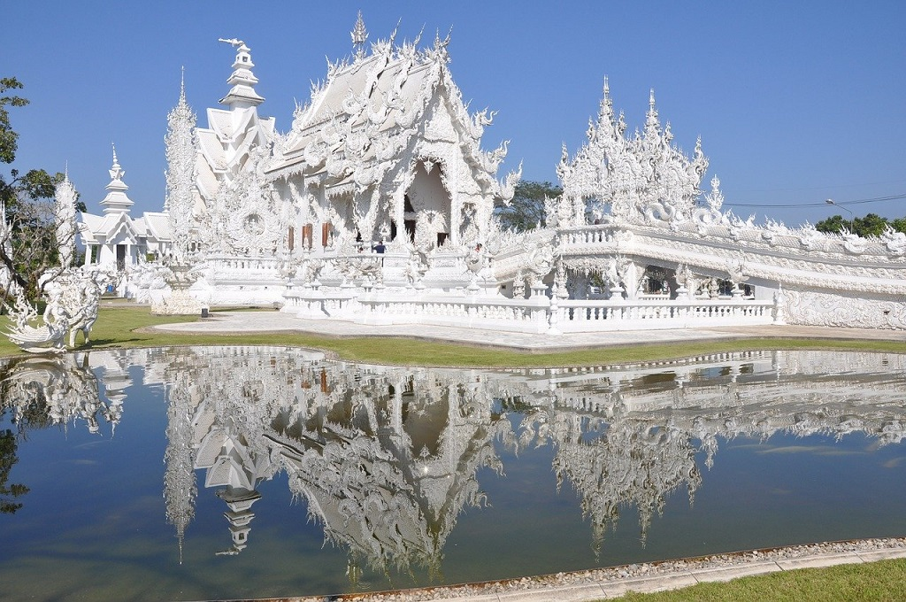 Wat Rong Khun(White Temple), Chiang Rai, Thailand