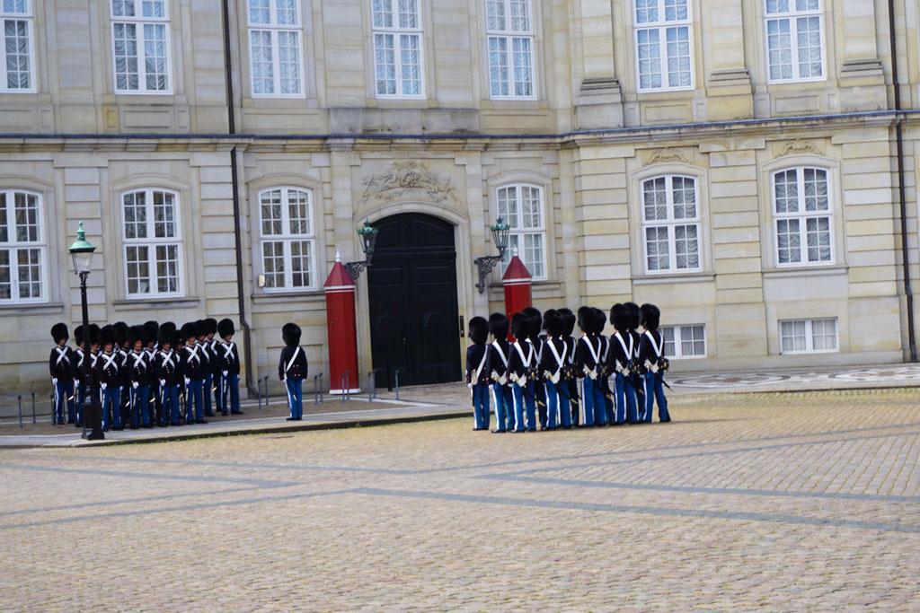 Change of Gaurd at the Amalienborg Castle