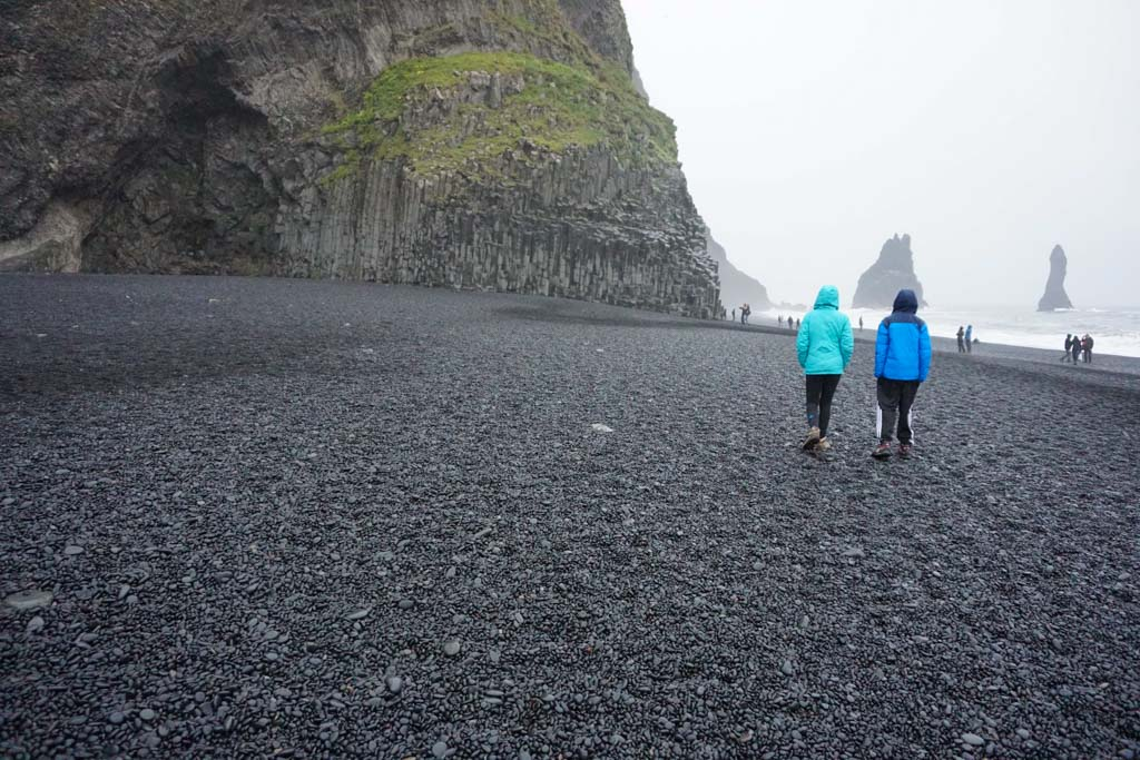The trolls and basalt columns in Reynisdrangar- See post for other Easy Adventures in Iceland #AdventuresInIceland