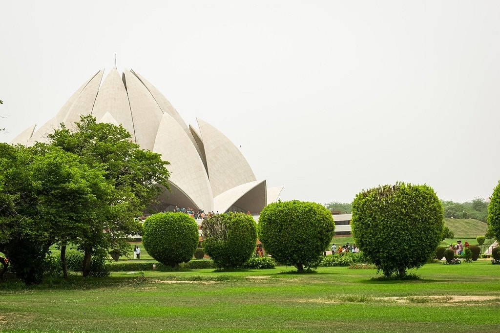 Lotus Temple India: 50 Magnificent & Famous Temples in Asia that you must visit   Outside Suburbia